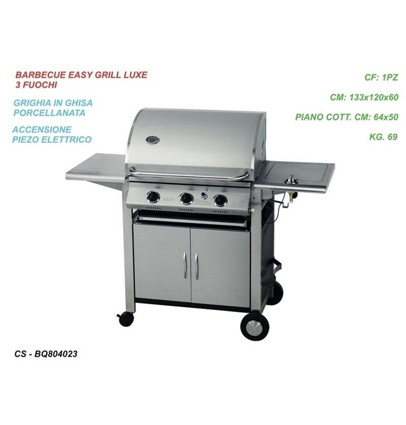 BARBECUE EASY GRILL 3 FUOCHI