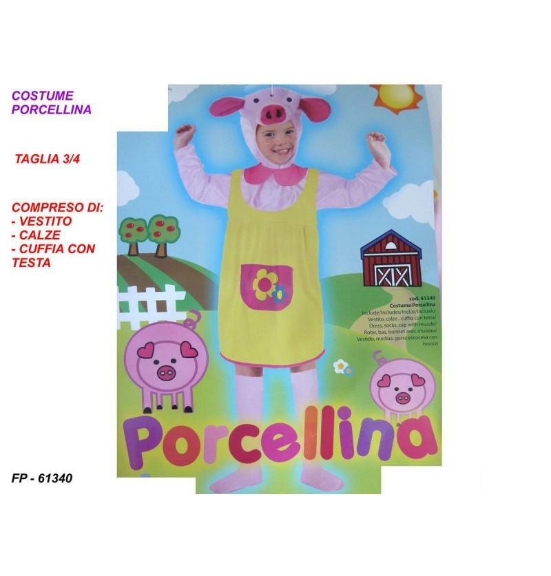 COSTUME PORCELLINA 3 O 4 ANNI