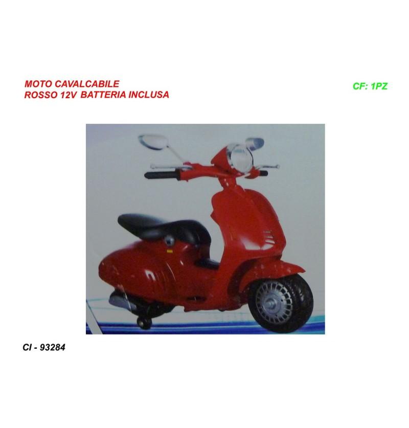 MOTO CAVALCABILE ROSSA 12V...